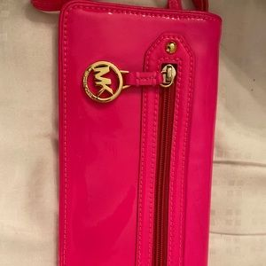 Michael Kors hot pink wallet, never used